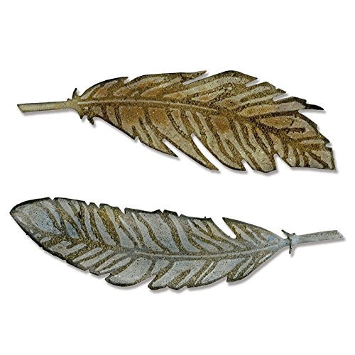 "Sizzix ""feather Duo With Texture Fades"" Bigz Die By Tim Holtz"