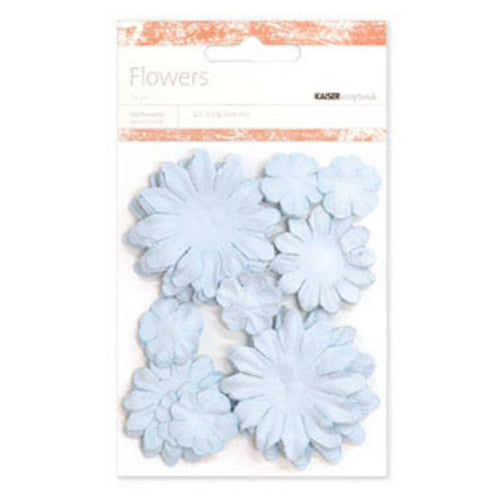 Kaisercraft Paper Flowers 2cm, 3-1/2cm, 5cm Assorted 60 Pcs - Baby Blue