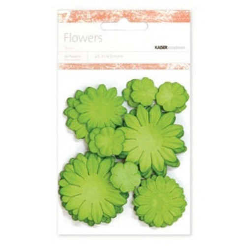 Kaisercraft Paper Flowers 2cm, 3-1/2cm, 5cm Assorted 60 Pcs - Sweet Pea