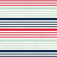 "Ahoy There Double-sided Cardstock 12""x12""-Nautical Stripe"