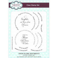 Creative Expressions A5 Clear Stamp Set - Cec773 Snow Globe Sentiments