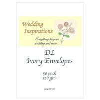 DL Ivory Envelopes 50 pck
