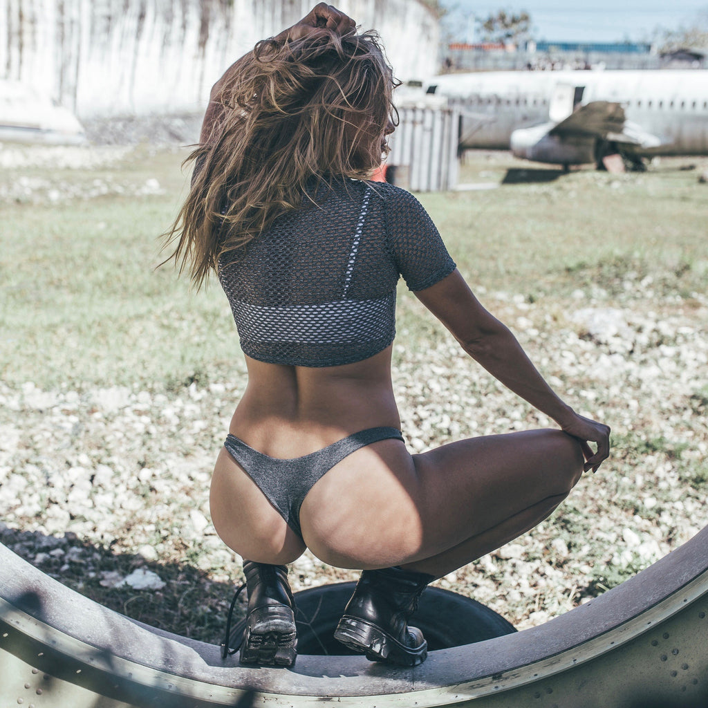 Moana Bottom - Stretch Jersey // Space Grey - THOSE SEEN DANCING