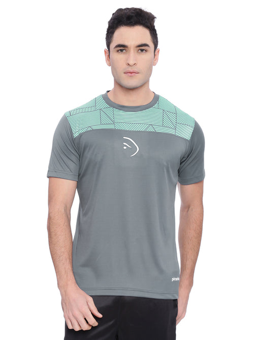 Piranha Men Grey Sports T-shirt