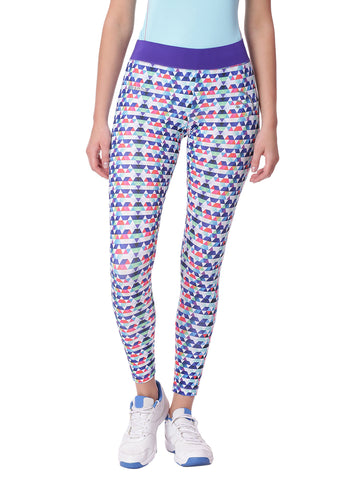 Piranha Women Blue Printed Yoga And Running Pants Ankle Length - YP10