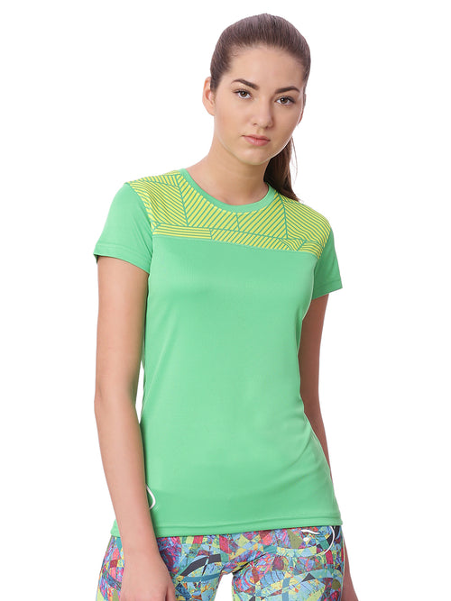 Piranha Women Green Sports T-shirt