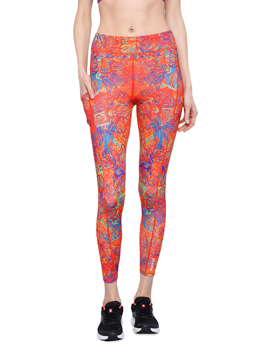Piranha Women's Printed Yoga And Running Pants - YP185