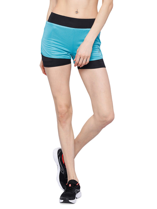 Piranha Women's Blue Running Shorts - RS93