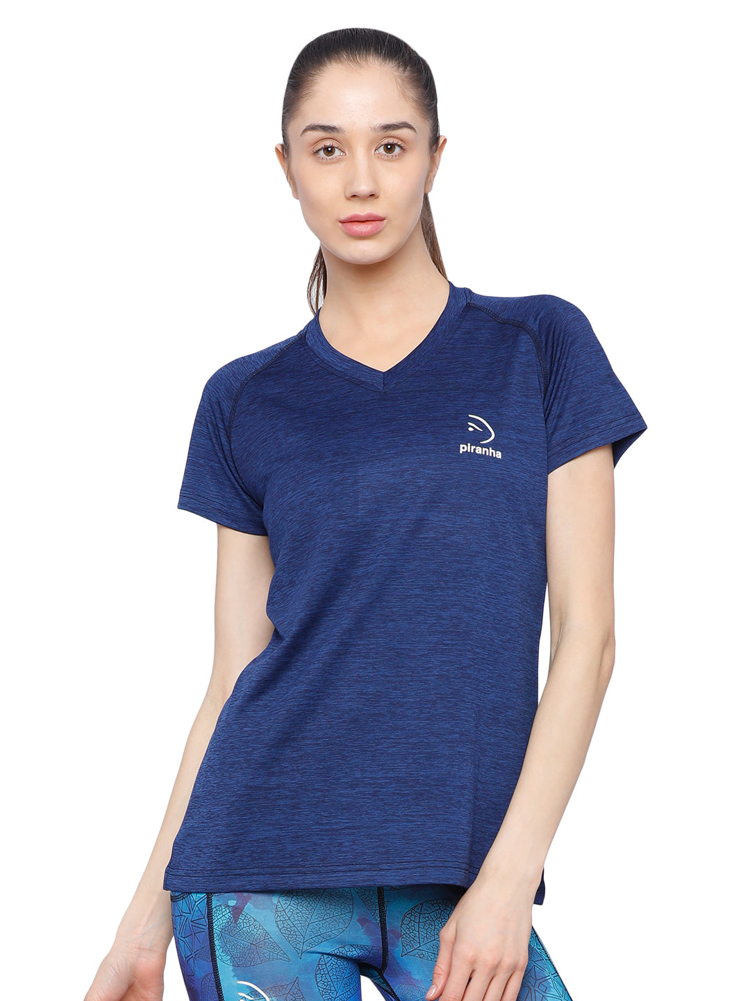Piranha Women's Blue T-shirt - TSG196