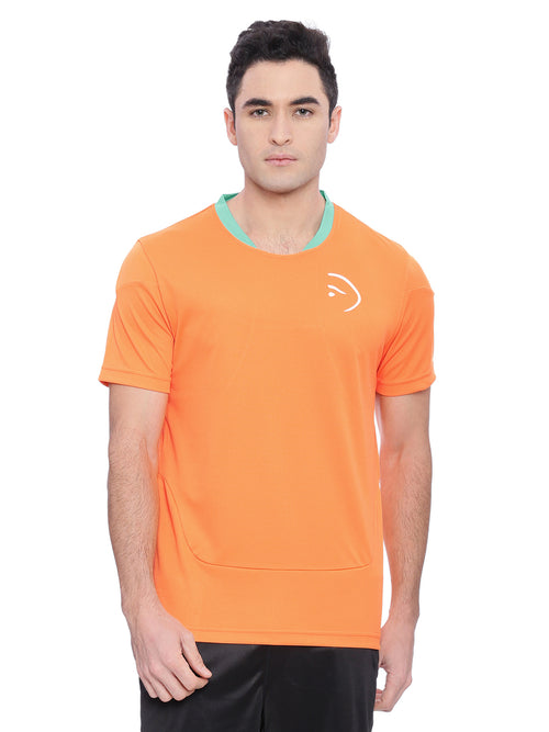 Piranha Men Orange Sports T-shirt
