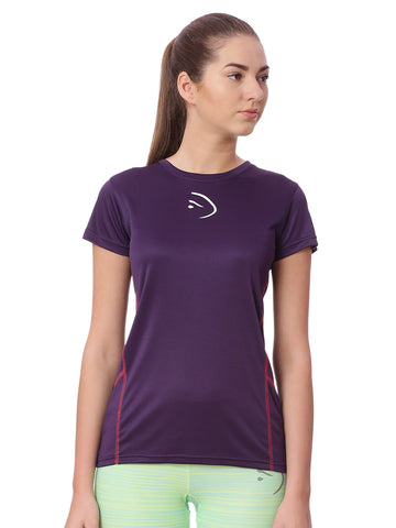 Piranha Women Purple Sports T-Shirt