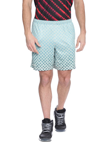 Piranha Men Grey Printed Shorts