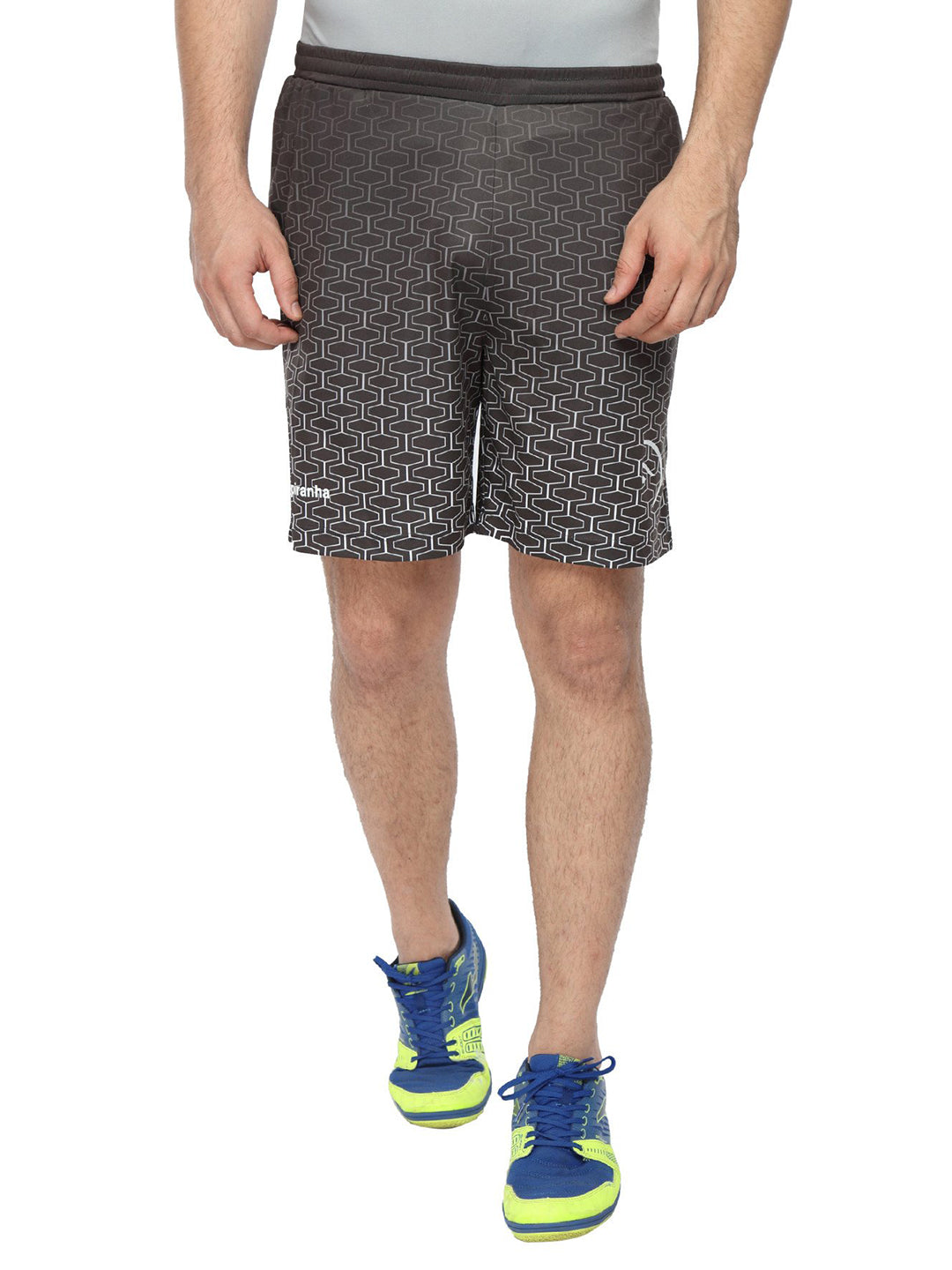 Piranha Men Black Printed Shorts