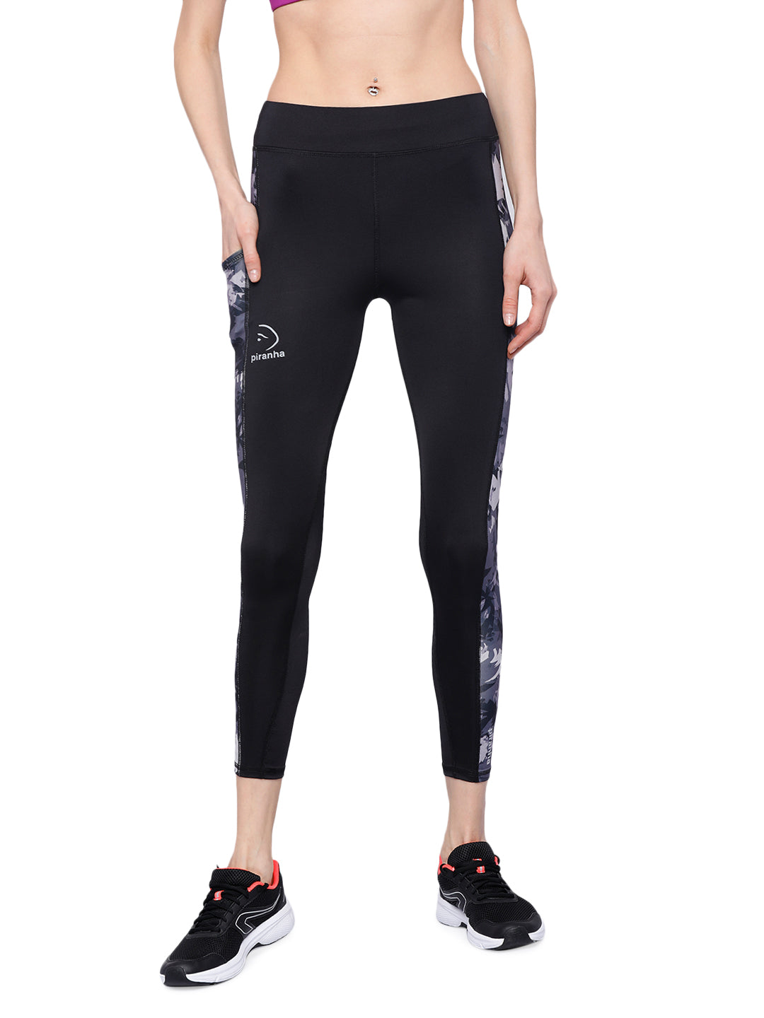 Piranha Women's Printed Yoga And Running Pants - YP255