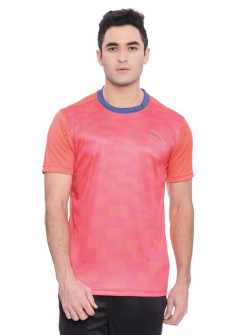 Piranha Men Pink Sports T-shirt