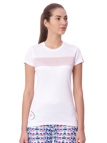Piranha Women White Sports T-shirt
