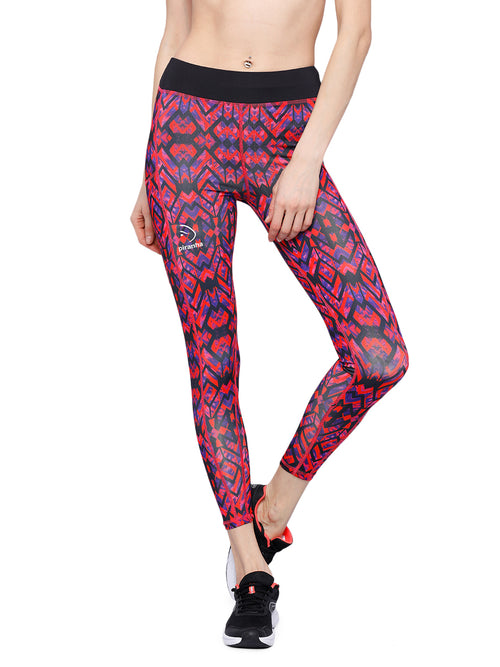 Piranha Women's Printed Yoga And Running Pants - YP156