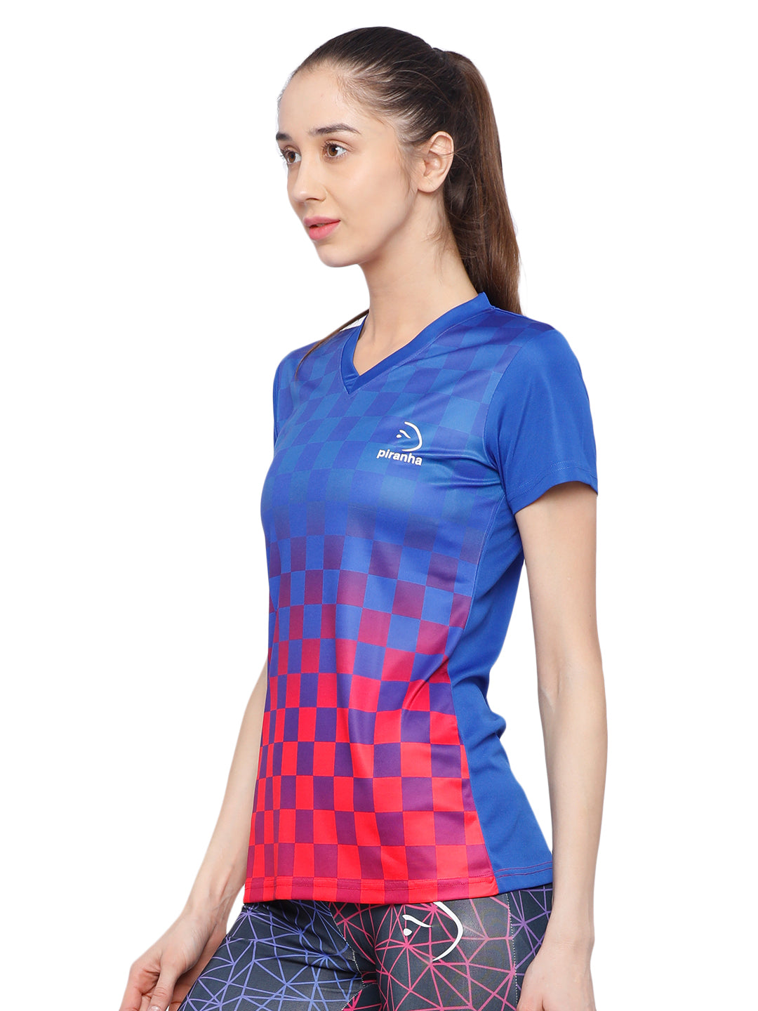 Piranha Women's Blue T-shirt TSG13B