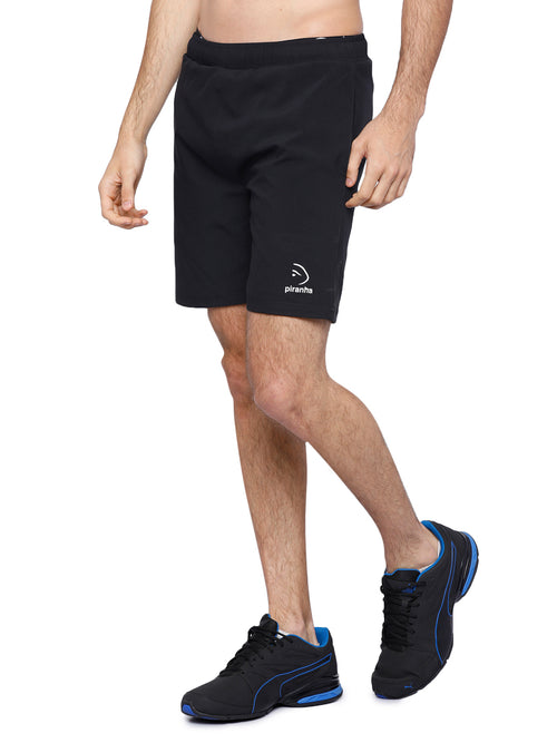 Piranha Men's Black Shorts - S168