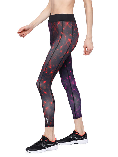 Piranha Women's Printed Yoga And Running Pants - YP173