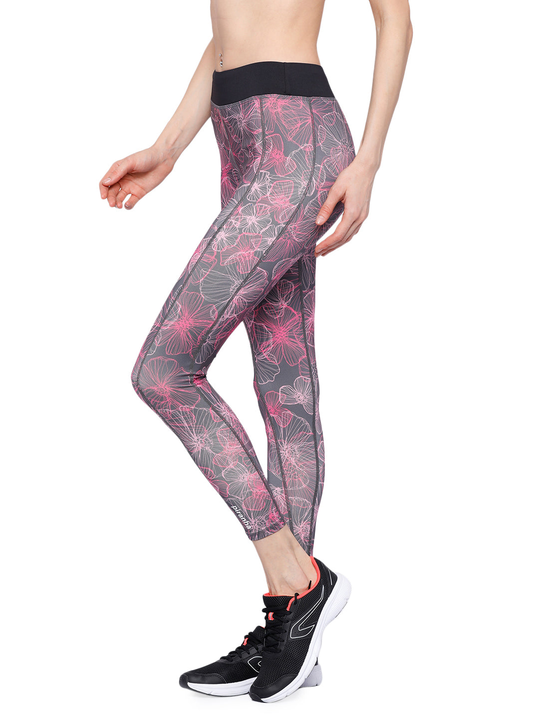 Piranha Women's Printed Yoga And Running Pants - YP187