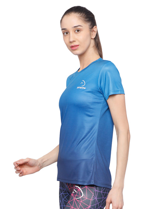 Piranha Women's Blue T-shirt TSG311