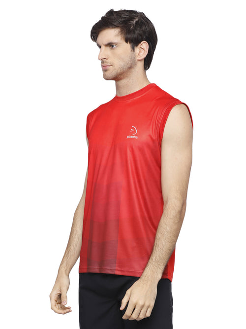 Piranha Red Sleeveless T-shirt - V314