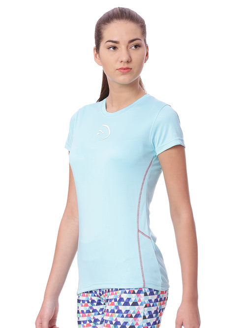 Piranha Women Sky Blue Sports T-Shirt