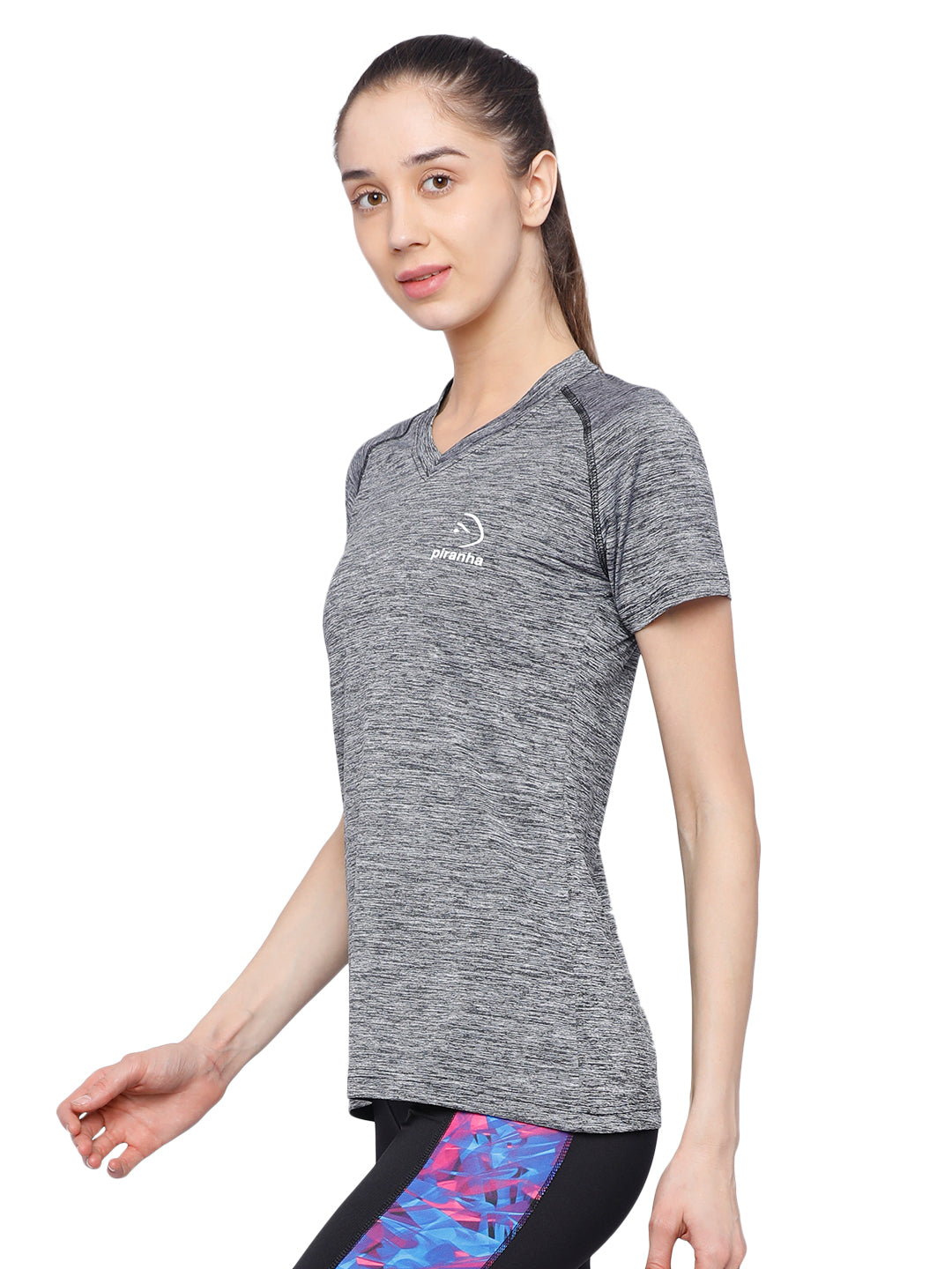 Piranha Women's Grey T-shirt - TSG191