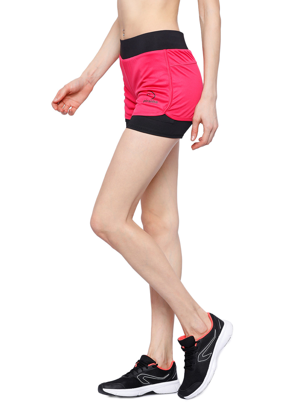 Piranha Women's Pink Running Shorts - RS92