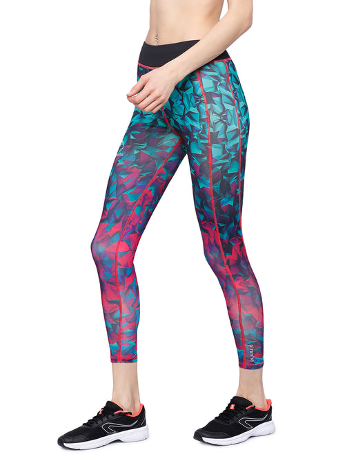 Piranha Women's Printed Yoga And Running Pants - YP82-1