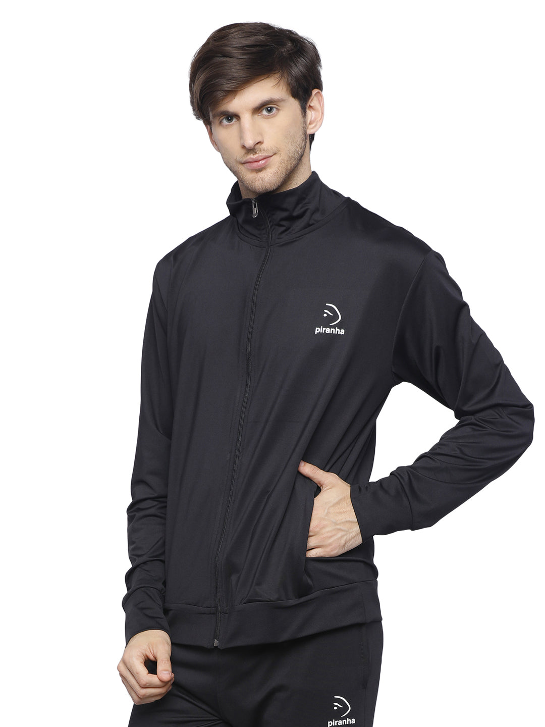 Piranha Men's Black Track Jacket - MTJ323