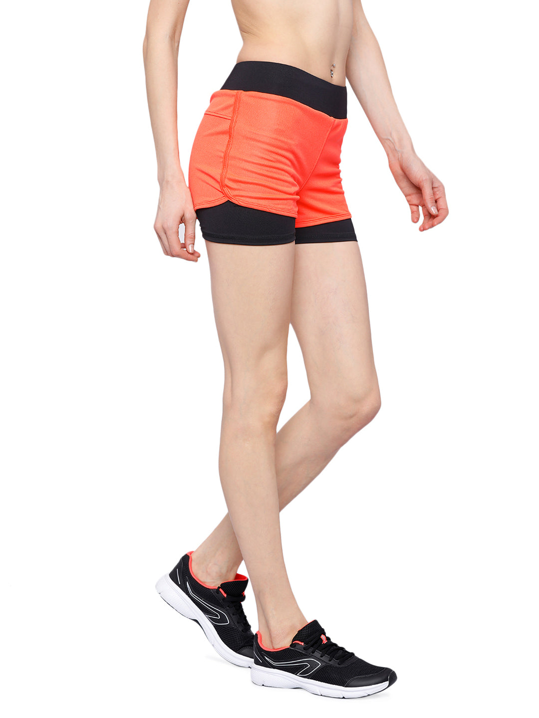 Piranha Women's Orange Running Shorts - RS94