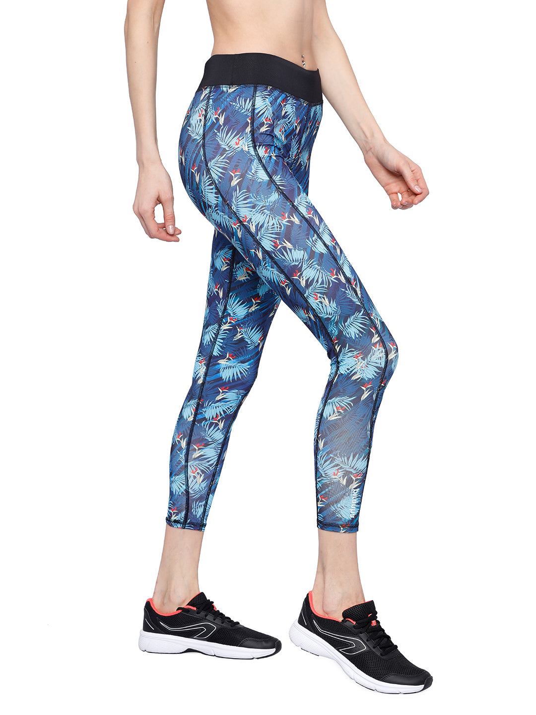 Piranha Women's Printed Yoga And Running Pants - YP136