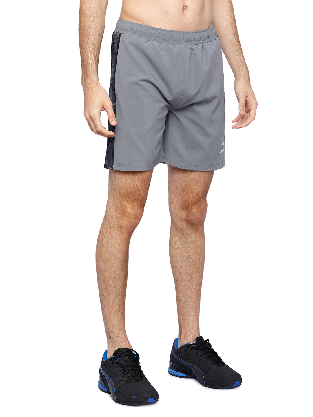 Piranha Men's Grey Printed Shorts - S318