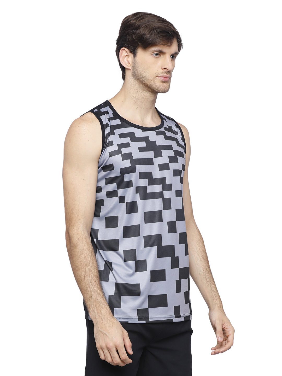 Piranha Grey Sleeveless T-shirt - V313