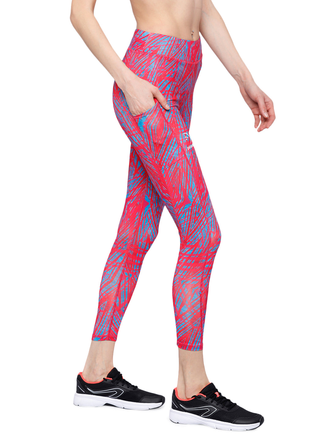 Piranha Women's Printed Yoga And Running Pants - YP163