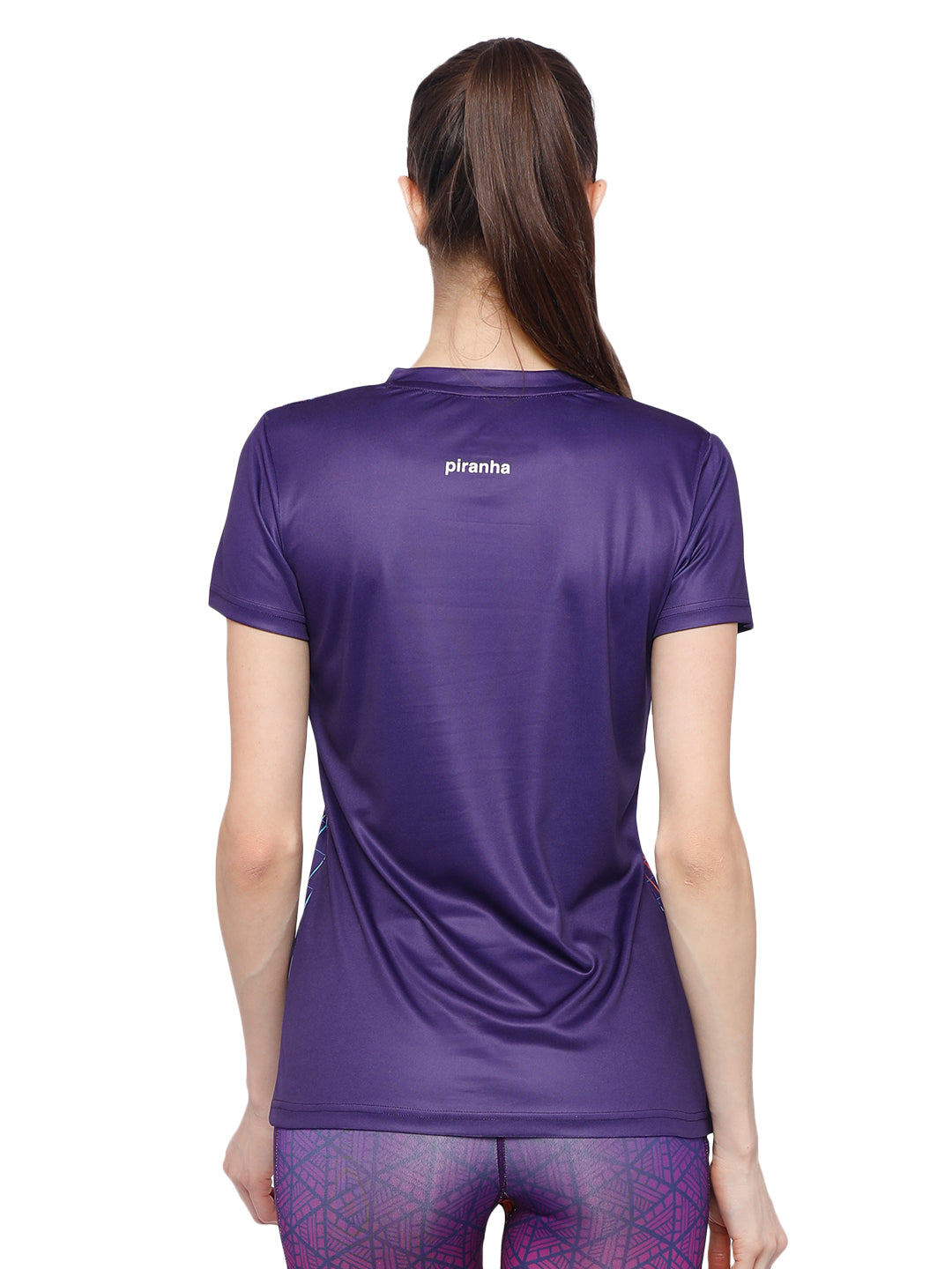 Piranha Women's Purple T-shirt TSG183