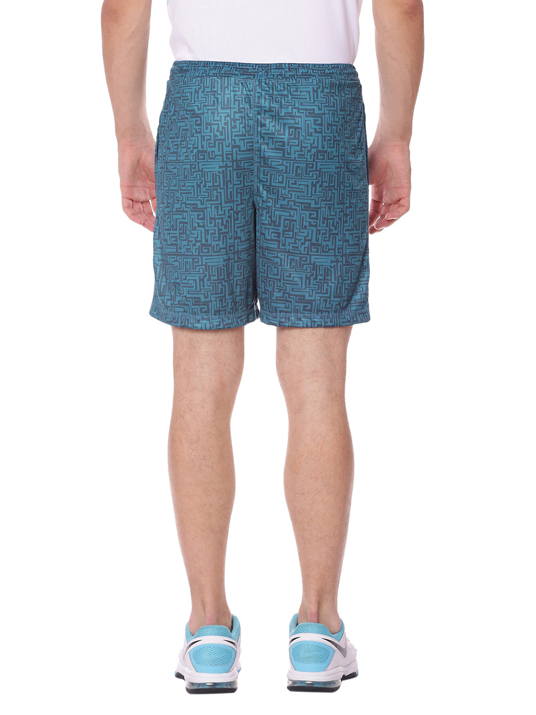 Piranha Men Blue Printed Shorts