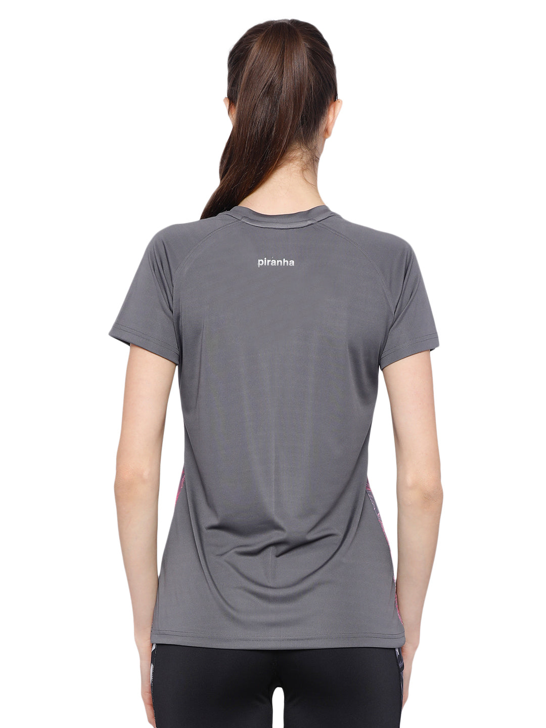 Piranha Women's Grey T-shirt TSG188