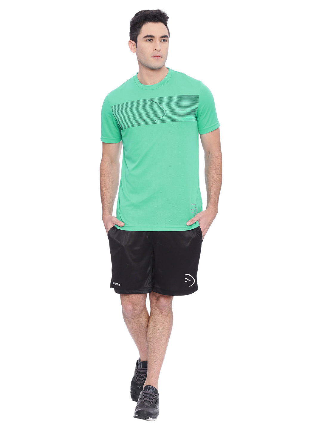 Piranha Men Aqua Green Sports T-shirt