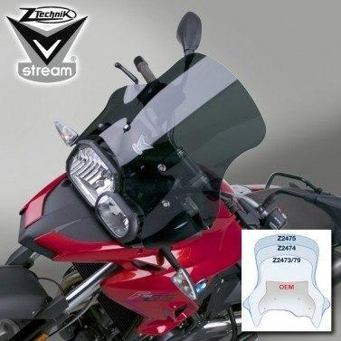 BMW G650GS Windshield V-Stream Dark tint small sport windscreen Ztechnik Z2470 2011-2013