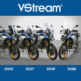 BMW F850GS Windscreen VStream Slightly Tinted Sport Touring Screen Z-Technik Z2378 2019 Up