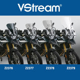The BMW F850GS Windscreen V-stream Windshield ZTechnik Z2379 Clear Touring Screen 2019 Up is a full-sized touring screen for F850GS riders who take their bikes on long-distance tours. This windscreen provides excellent wind protection, even for taller riders. State-of-the-art 4.5mm Quantum® hardcoated polycarbonate gives this VStream windscreen outstanding clarity and strength characteristics unmatched by any windshield maker worldwide.