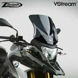 The BMW G310GS Windscreen V-stream Windshield Ztechnik Z2360 Dark Tint Sport Screen 2017 Up is designed for highway wind and weather protection for the adventure rider who finds himself on the highway more than off road.   ZTechnik revolutionises windscreen performance with its VStream windshields. While creating a comfortable ride for the BMW sport touring rider, ZTechnik introduces quiet into the equation.