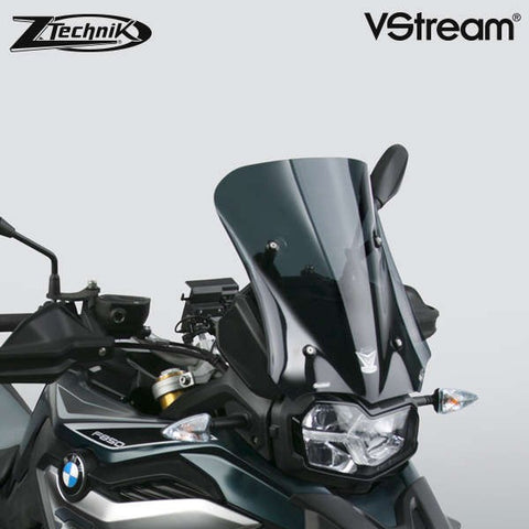 The BMW F850GS Windscreen V-stream Windshield ZTechnik Z2377 Dark Tint Sport Screen 2019 Up is an aggressive-looking adventure sport screen, and gives the F850GS/Adventure rider good wind protection without sacrificing the bike's cutting edge appearance. Z-Technik's hardcoated Polycarbonate windscreens are super strong - they are over 20x more resistant to scratches and cracks, and 200x more resistant to impacts than regular acrylic.