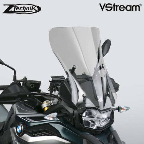 The BMW F850GS Windscreen V-stream Windshield ZTechnik Z2378 Light Tint Sport Touring Screen 2019 Up is a generously-sized sport-touring screen, and will give most F850GS/Adventure riders excellent wind protection while maintaining the bike's adventourous appearance. State-of-the-art 4.5mm Quantum® hardcoated polycarbonate gives this VStream windscreen outstanding clarity and strength characteristics unmatched by any windshield maker worldwide.