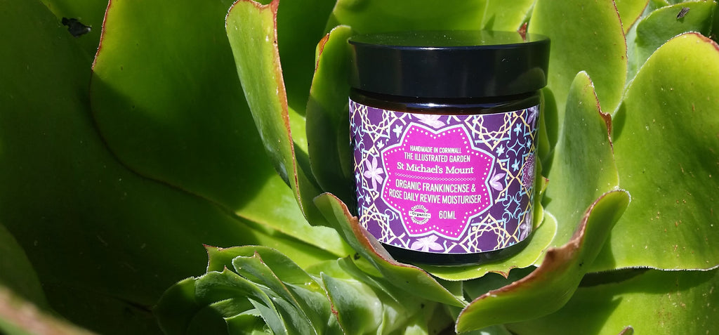 Bloom Remedies Organic Frankincense & Rose Baily Moisturiser from the Illustrated Garden Range