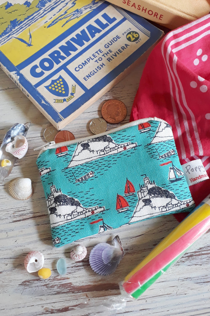 Poppy Treffry St Michael's Mount Printed Coin Purse