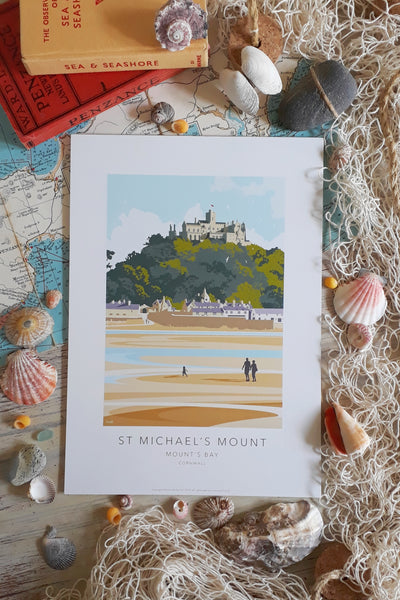 Kevin Williamson print 'A Walk to St Michael's Mount' - Medium